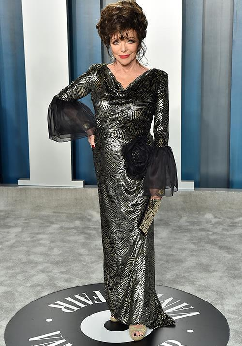 86-year-old Joan Collins is a legend at the best of times, but she outdid herself at the *Vanity Fair* event. She can do no wrong!