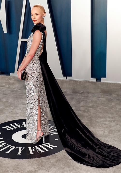 Meanwhile Kate Bosworth brought a touch of drama with a lengthy velvet cape.