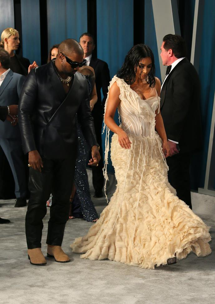 Hollywood power couple Kim & Kanye could be wearing rubbish bags and they'd still somehow pull it off.
