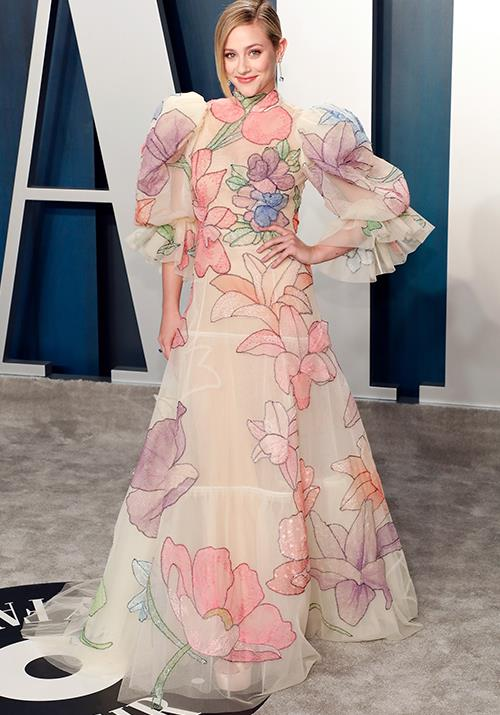 *Riverdale*'s Lili Reinhart went full pastel in this puff-sleeved design.