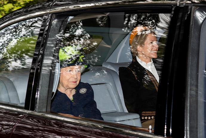 Autumn and the Queen were seen together in September 2019 as they travelled by car to church in Balmoral.