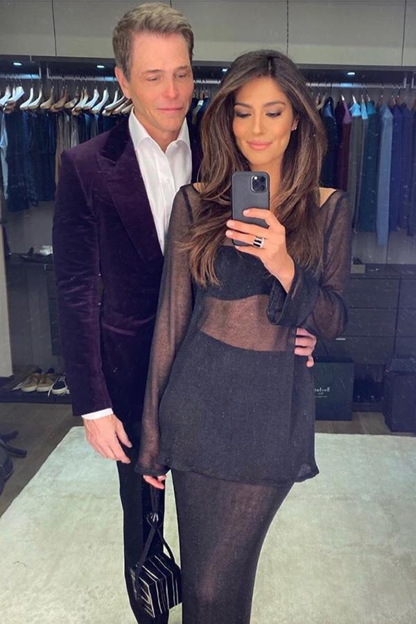Pia and Patrick posing up a storm inside his very glamorous closet.