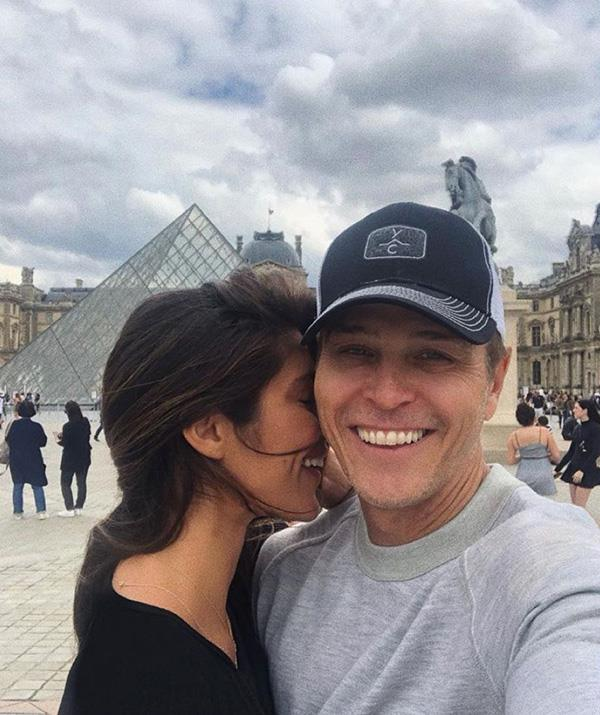 The couple pictured during a romantic getaway to Paris last year.