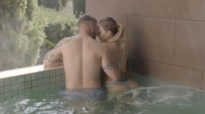 And things got hot and steamy in more ways than one in the spa.
