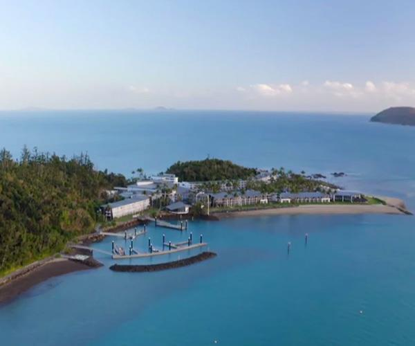 Amanda and Tash escaped to the tropical Daydream Island Resort in Queensland's Whitsundays.