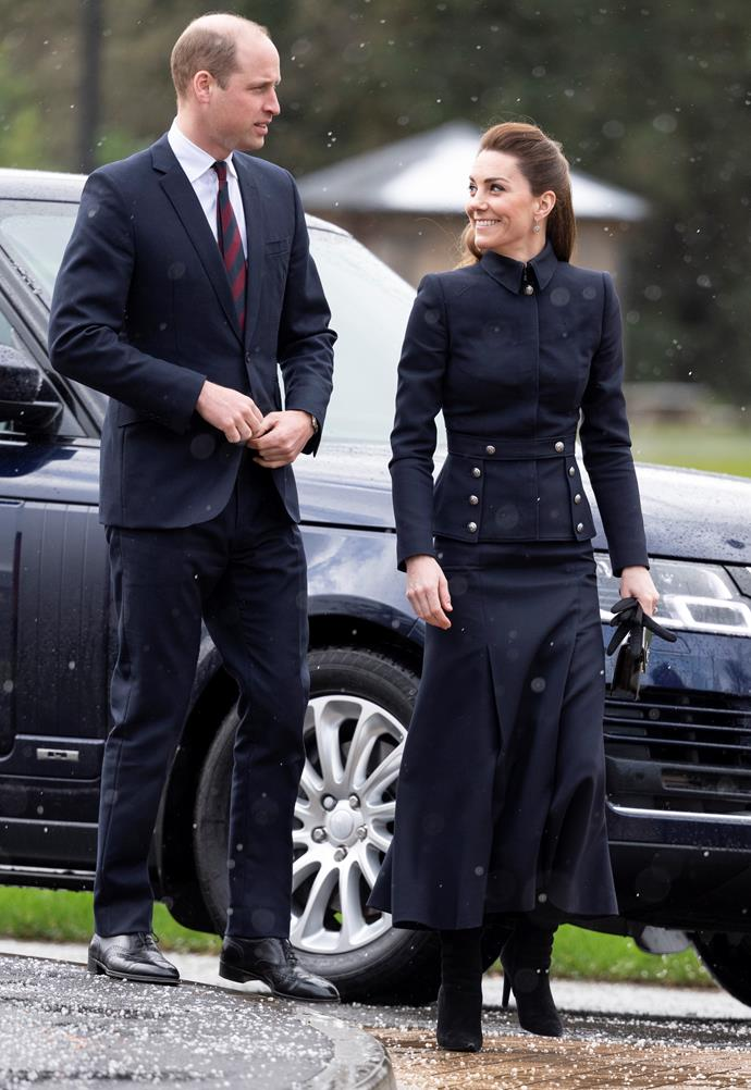 Duchess Catherine's outfit paid tribute to the late fashion designer, Alexander McQueen.