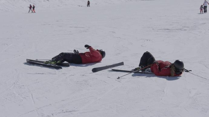 And the skiing certainly took it out of them.