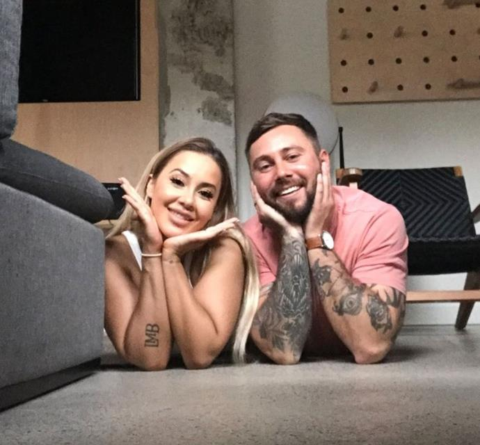 He and his on-screen wife Cathy make a cute couple, especially when they're showing off their ink.
