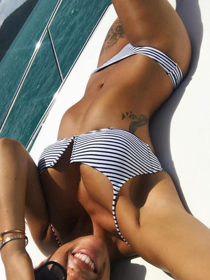 And his wife Natasha also has some designs on her ribcage and thigh.