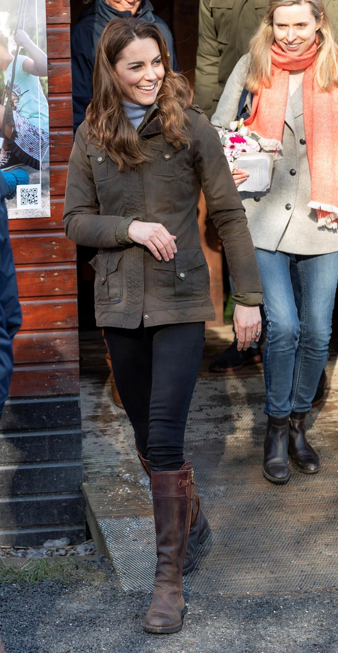 Kate has single-handedly just made casual farm chic a thing.