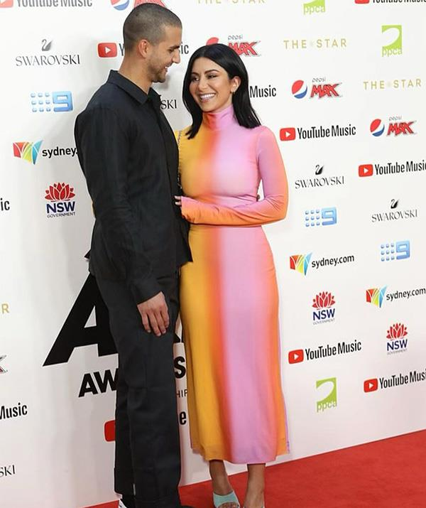 The loved-up pair at the ARIA Awards last year.