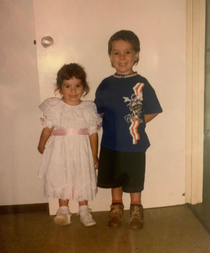 Stacey and her brother when they were younger.