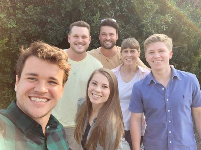 "Bindi Irwin shared the love not only for her fiancee Chandler Powell, but for her entire family. The 21-year-old wrote: ""Happy Valentine's, Galentine's, Palentine's Day! Wishing you a day of happiness surrounded by the people that you love. ❤️"""