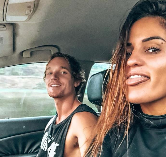 "*Bachelor* alum Elora 'Tahiti' Murger shared a sweet throwback snap with her partner on Instagram, writing: ""Our first photo together ❤️ In that moment. I remember knowing, you were The One. Happy Valentine's Day my Heart ❤️"""