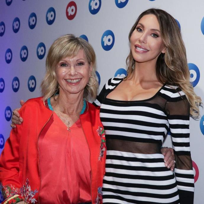 ONJ made a rare appearance Down Under to watch Chloe on *Dancing With The Stars*