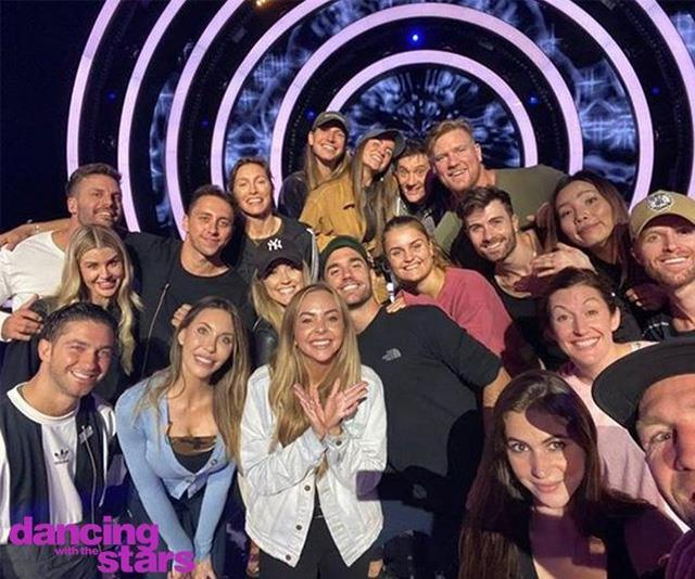 The full *DWTS* cast pictured together on set in Melbourne.