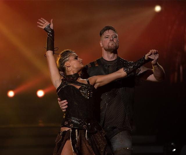 Dean and his dance partner Alex getting in the zone during a recent performance.