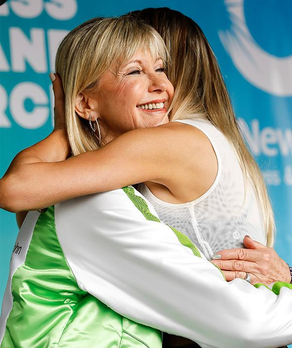 The pair shared a heartwarming embrace at the event.