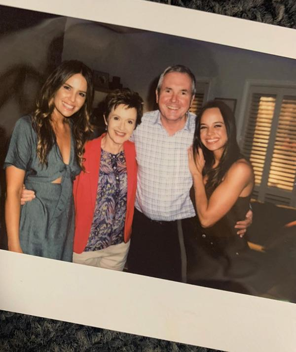 Jodi pictured with her *Neighbours* co-stars Jackie Woodburne, Alan Fletcher and Bonnie Anderson.