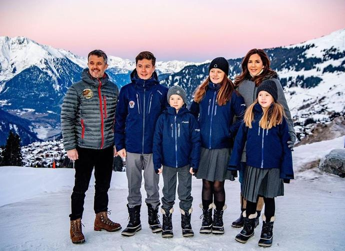 The Danish royals are currently spending time in Switzerland.