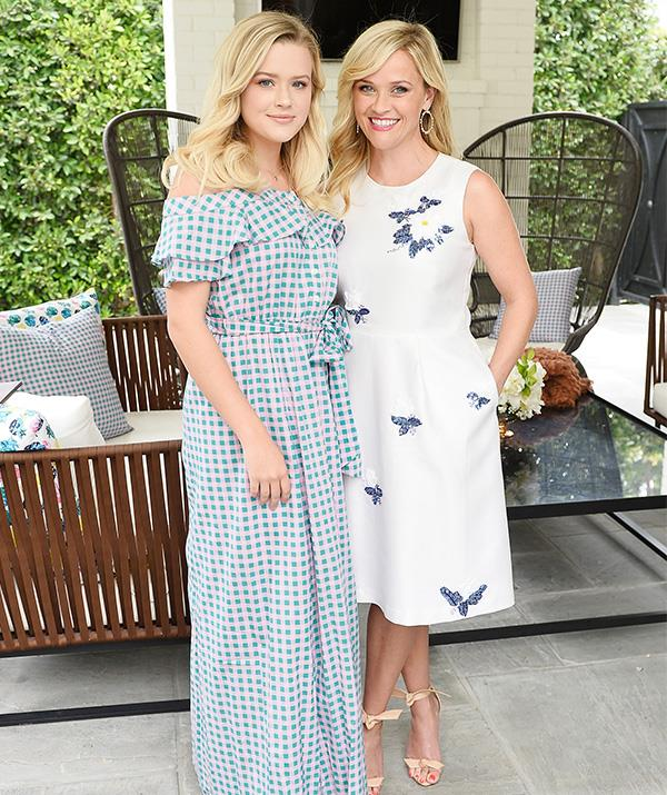 Ava and Reese's gorgeous blonde hair looked exactly the same, as the mother-daughter duo appeared at an event for Reese's clothing and lifestyle brand Draper James in Beverly Hills in 2017.