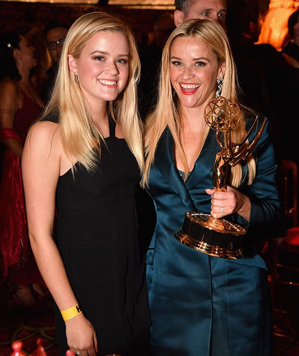 Ava stood proudly by her mother's side at the Emmy Awards in 2017, when Reese won for her acting and producers roles in the hit HBO TV series *Big Little Lies*.