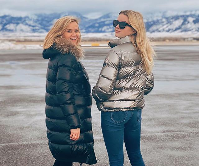 Matching, again! This time in cosy puffer jackets while on vacation.
