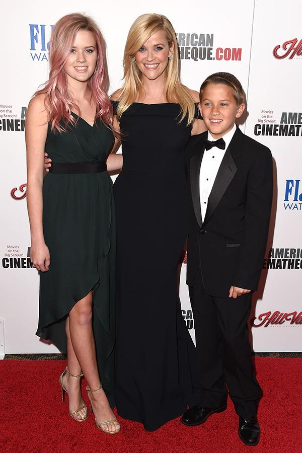 Ava, Reese and Deacon during a family night out in 2015 on the red carpet.