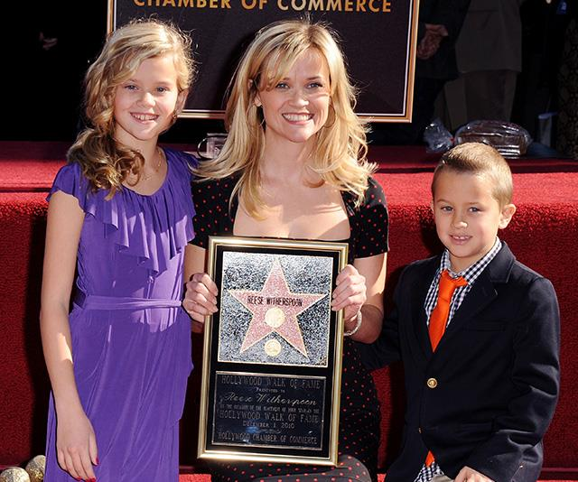 Ava was Reese's total mini-me as she supported her Mum, along with brother Deacon, when Reese was awarded her star on the Hollywood Walk of Fame in 2010.