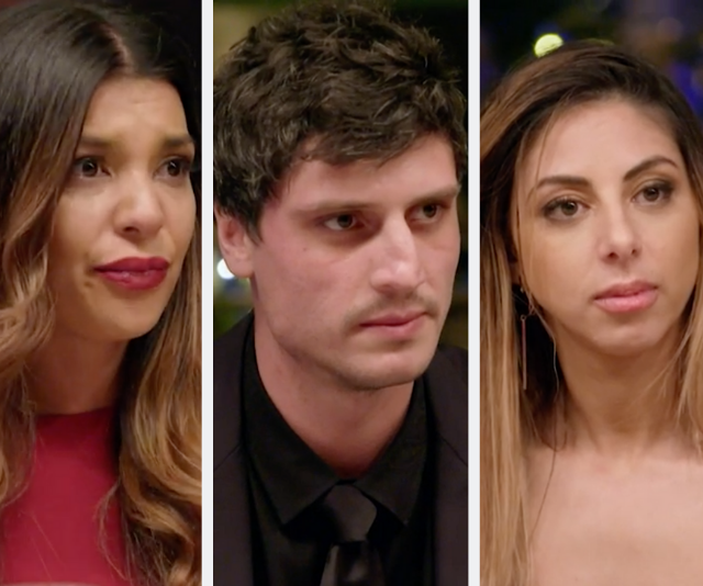 **Ben, Roula and Lauren: Season 11** <br> <br> Flirtations were flying across the table in this Rivals romance between House Manu contestant Roula and House Colin's Ben. The couple hit things off before going on a date that left Roula smitten and hoping for a second. Tragically her hopes were cut short when she discovered Ben had secretly been hooking up with fellow House Colin contestant, Lauren!
