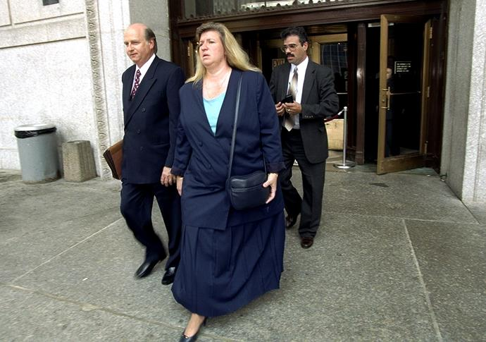 Donna and Richard Fasano leaving court in 1999. The couple eventually agreed to have visitation rights with Akeil, whom Donna gave birth to.