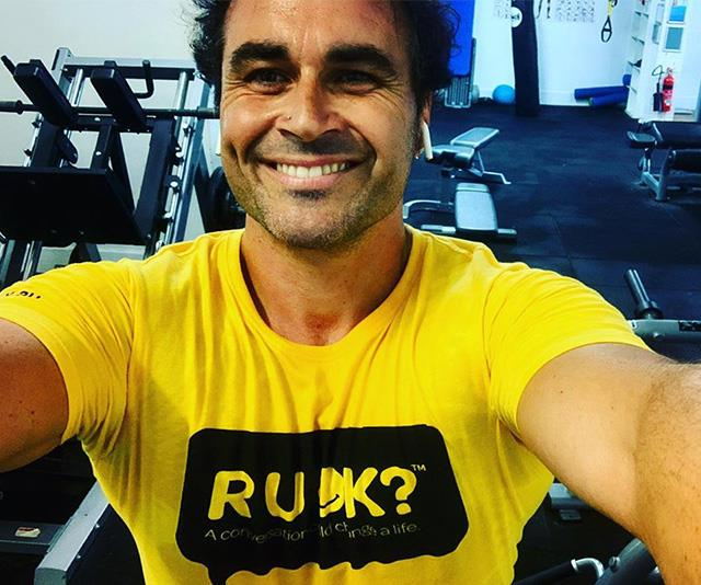 Miguel is back in the gym after his stint on *I'm A Celeb*.