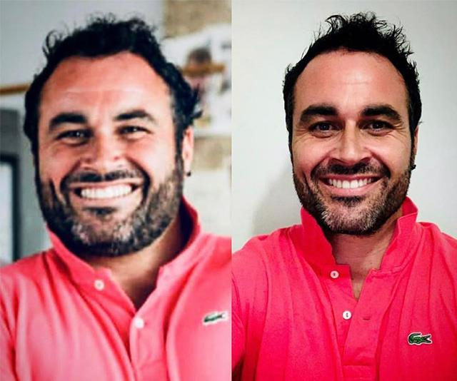 Left: Miguel at the beginning of 2019. Right: Miguel at the end of 2019.