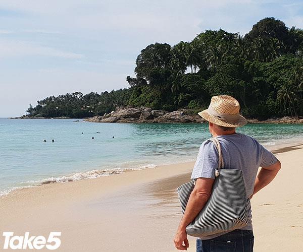 John on our honeymoon in Thailand.