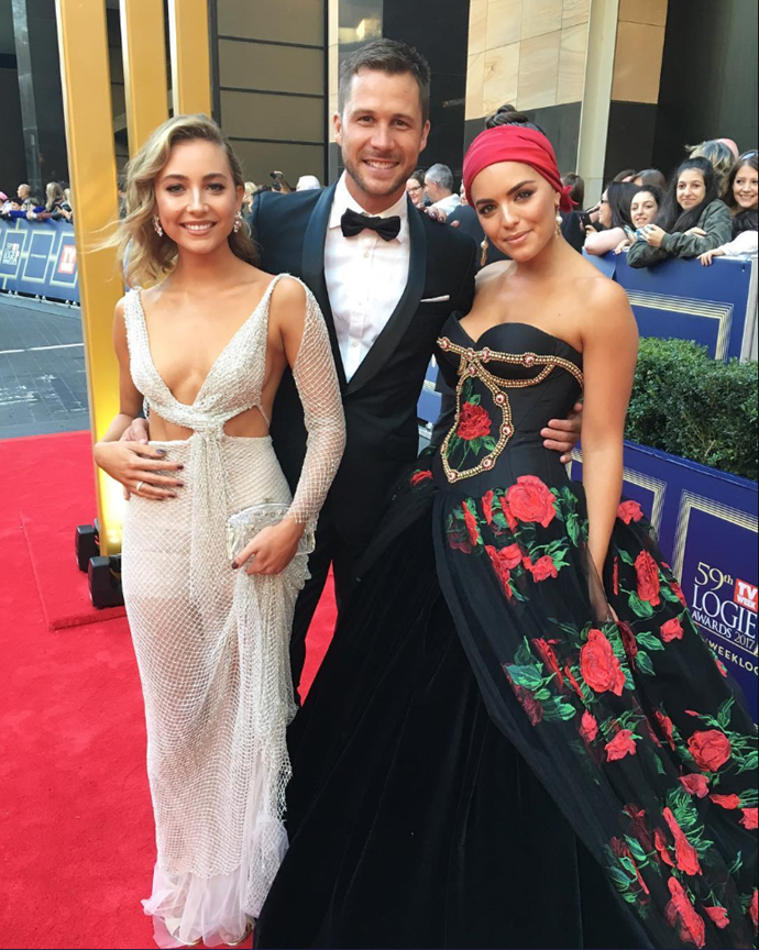 Mavournee Hazel, Scott McGregor and Olympia Valance at the 2017 TV WEEK Logie Awards. *(Instagram / @scottmcgregor)*