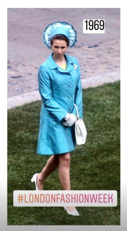 And you might recognise this blue ensemble of Anne's - it's one of her best.