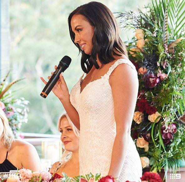 Bride Natasha Spencer opened up about her difficult past.
