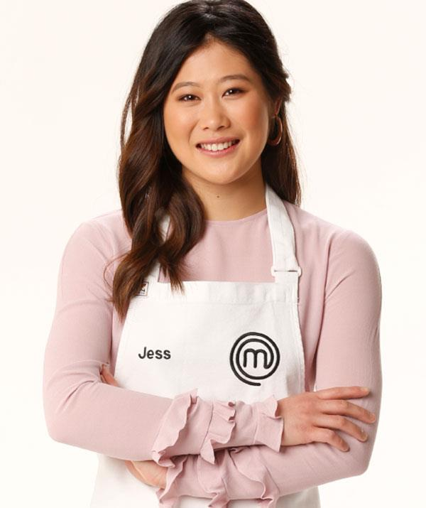**Jess Liemantara, season 10** <br><br> Just 19 years old when she entered the MasterChef kitchen in season 10, dessert powerhouse Jess Liemantara is once again the youngest recruit this season. Happy to have her ability defy her age, Jess has proven she's the reigning Sweet Queen, recently self-publishing her first cookbook, A Zest of Jess.