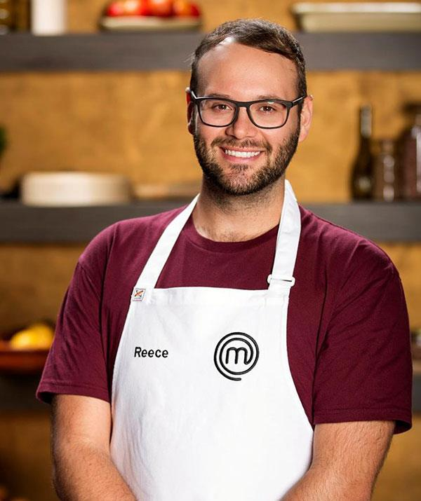 **Reece Hignell, season 10** <br><br> Leaving the competition in sixth place, Reece knew he'd achieved something significant, and was buoyed by his newfound confidence. Guilty of often self-doubting his cooking abilities, he realised he was capable of taking risks, and now looks forward to taking out top honours. Now a confident cake baker, this Newcastle native loves making anything sweet, and is back to try his luck again in the *MasterChef* kitchen following his appearance in 2018 in the show's 10th season.