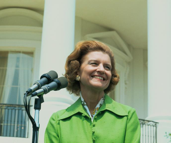 Former American First Lady Betty Ford was open about her breast cancer diagnosis and had had a mastectomy in 1974, weeks after taking on the title of First Lady. Her openness about her cancer and treatment raised the visibility of a disease that Americans had previously been reluctant to talk about.