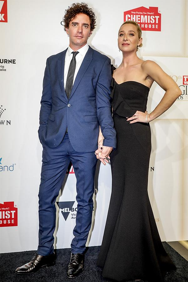 Asher and Vincent glammed up at the *TV WEEK* Logie Awards. Asher has won seven Logies in total over the years.