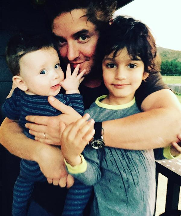 Vincent with his two boys.