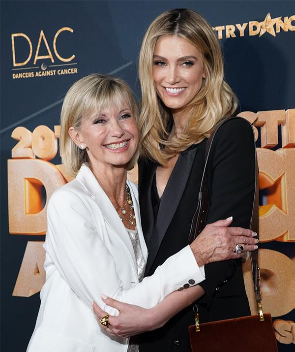 Delta and Olivia Newton-John have been friends for years.