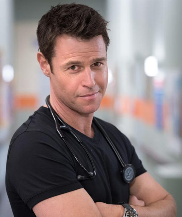 Rodger is reprising his role as the heartthrob lead on *Doctor Doctor*.