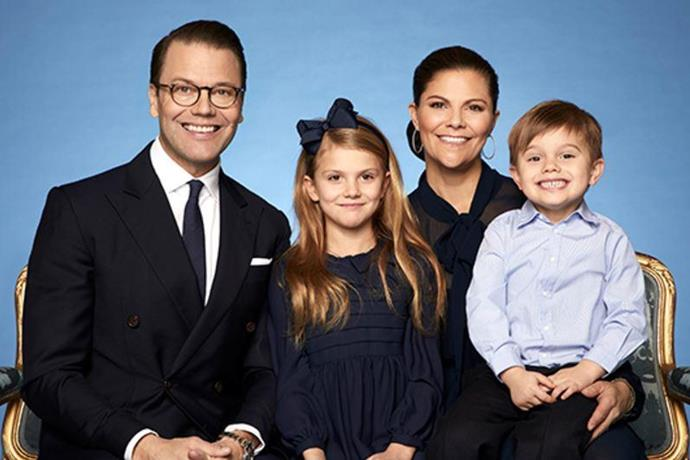 The Swedish royal family website was updated with brand new striking images of the young family.
