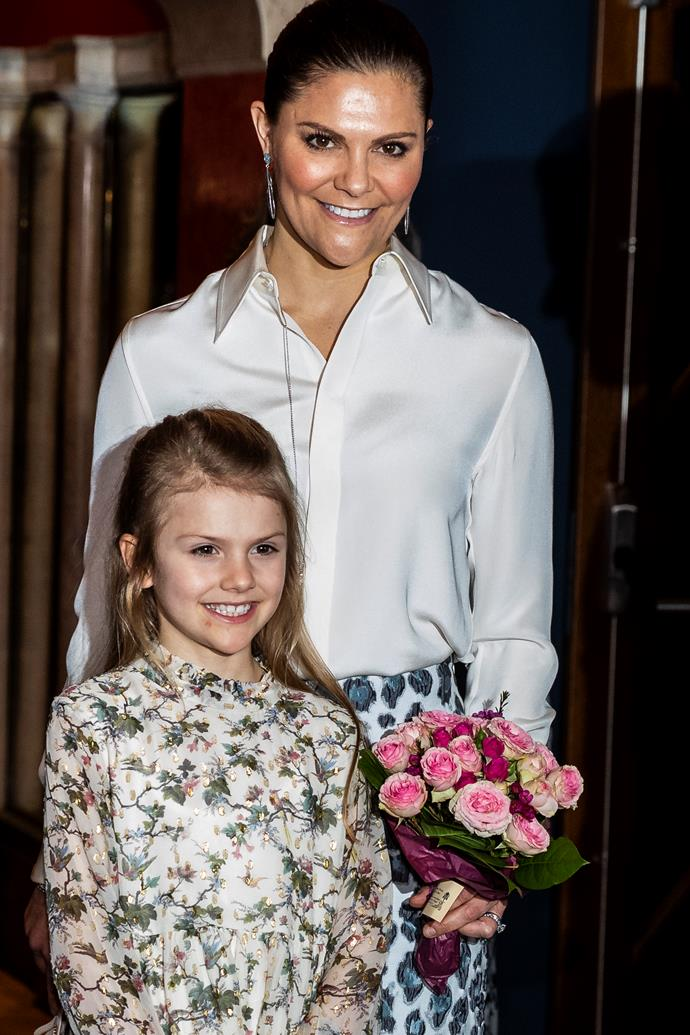 New professional portraits of Princess Estelle proves she's looking more like her royal mum every day!