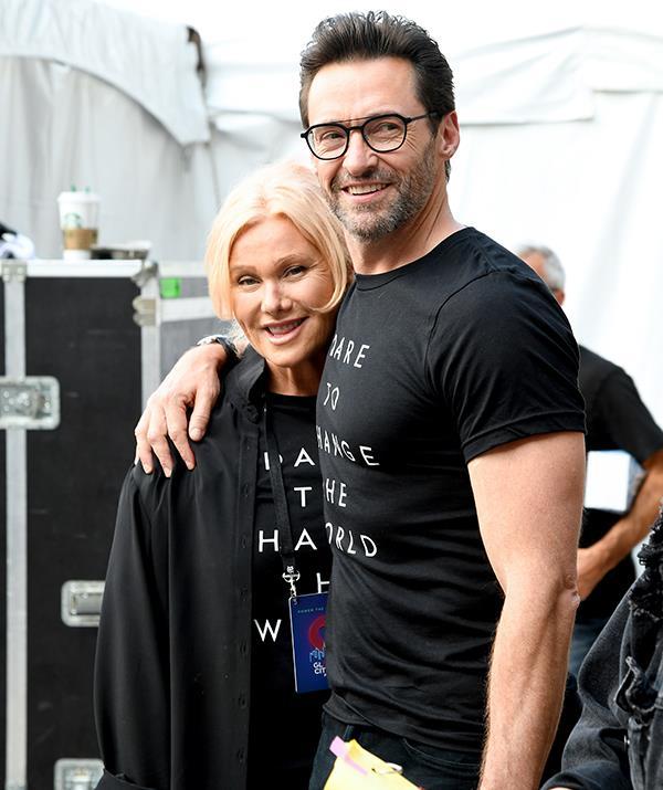 Deborra-Lee and Hugh backstage at the 2019 Global Citizen Festival.