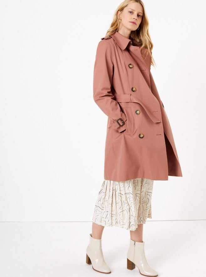 "Marks & Spencer Breasted Trench Coat, $119. [Available online here](https://www.marksandspencer.com/au/double-breasted-trench-coat/p/P60370585.html|target=""_blank""