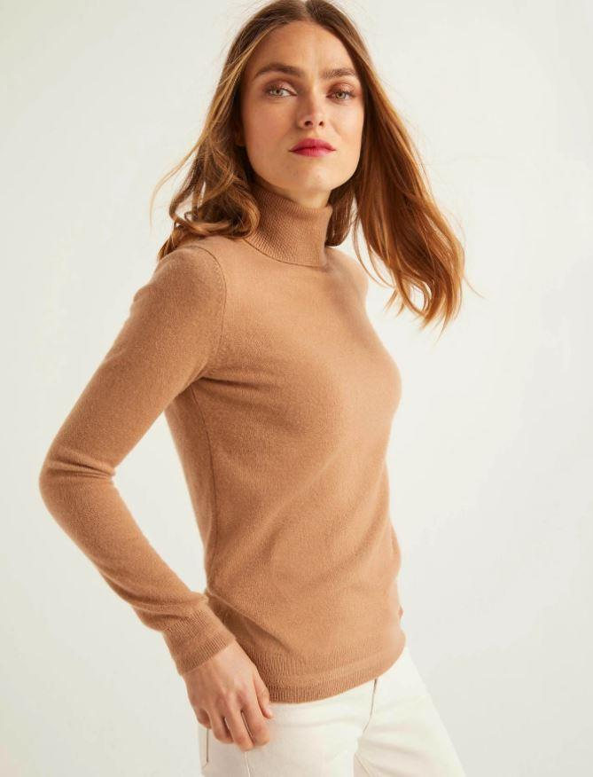 "Boden Cashmere Roll Neck, $240. [Available online here](https://www.bodenclothing.com.au/en-au/cashmere-roll-neck-camel/sty-k0279-neu|target=""_blank""