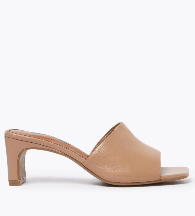 "Marks & Spencer Leather Square Toe Mules, $85. [Available online here](https://www.marksandspencer.com/au/leather-square-toe-mules/p/P60437339.html|target=""_blank""